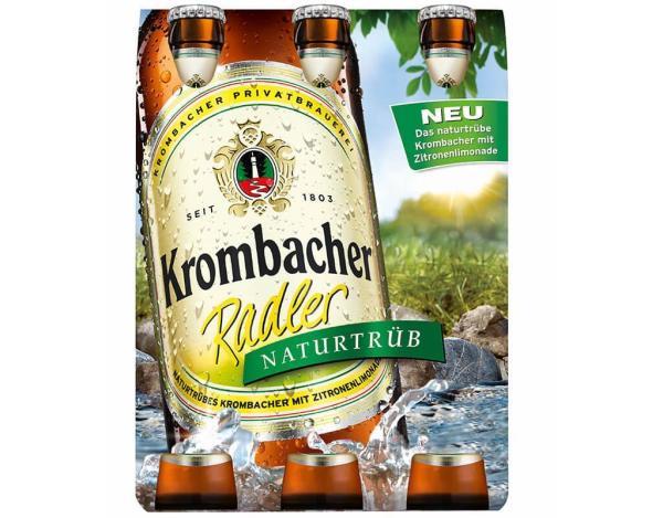 Krombacher Radler Naturtrüb 6x0,33 l (Mehrweg)