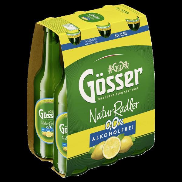 Gösser Radler Alkoholfrei 0,0% 6x0,33 l