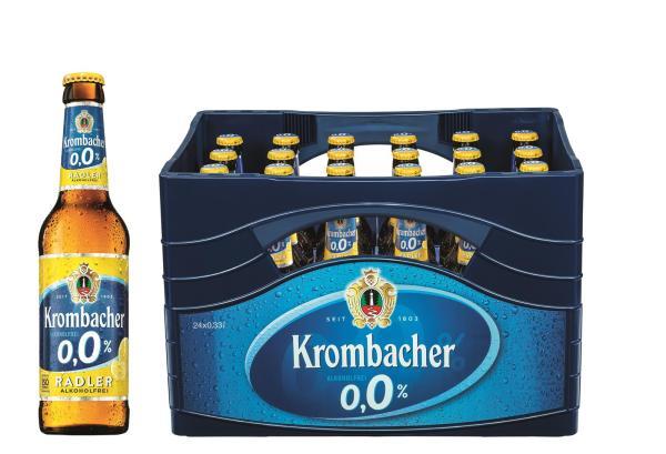 Krombacher Radler 0,0% AF 4x6x0,33 l (Mehrweg)
