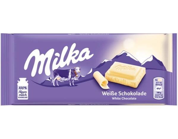 Milka Weiße Schokolade 100g