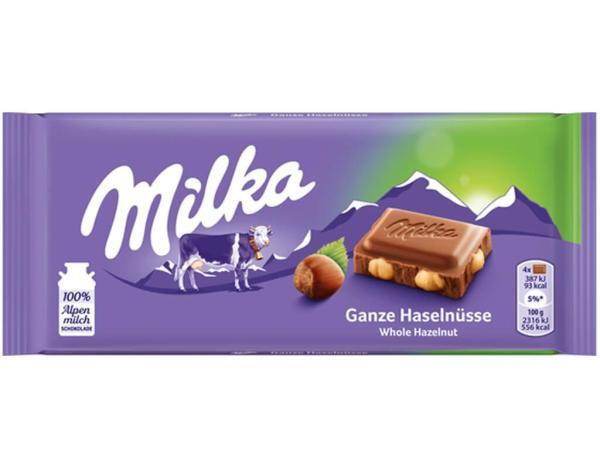 Milka Ganze Haselnüsse 100g