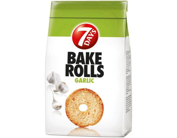 7 Days Bake Rolls Knoblauch 250g