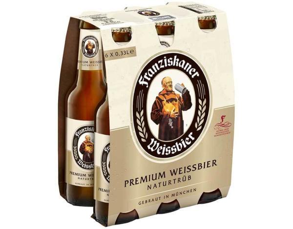 Franziskaner Weissbier 6x0,33 l (Mehrweg)