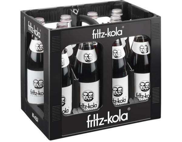 Fritz Kola ohne Zucker 10x0,5 l (Mehrweg)