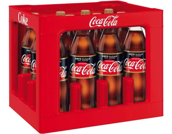 Coca Cola Koffeinfrei Zero 12x1 l (Mehrweg)