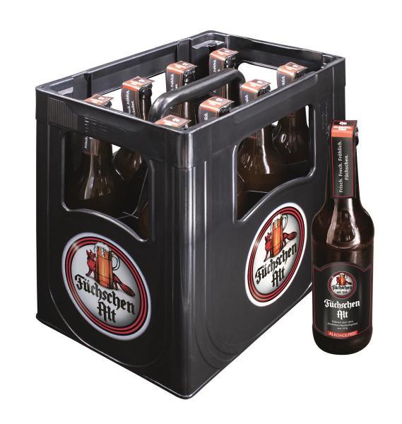 Füchschen Alt Alkoholfrei 8x0,33 l (Mehrweg)